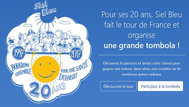 Participez à la 1ère tombola au profit de la fondation Siel Bleu